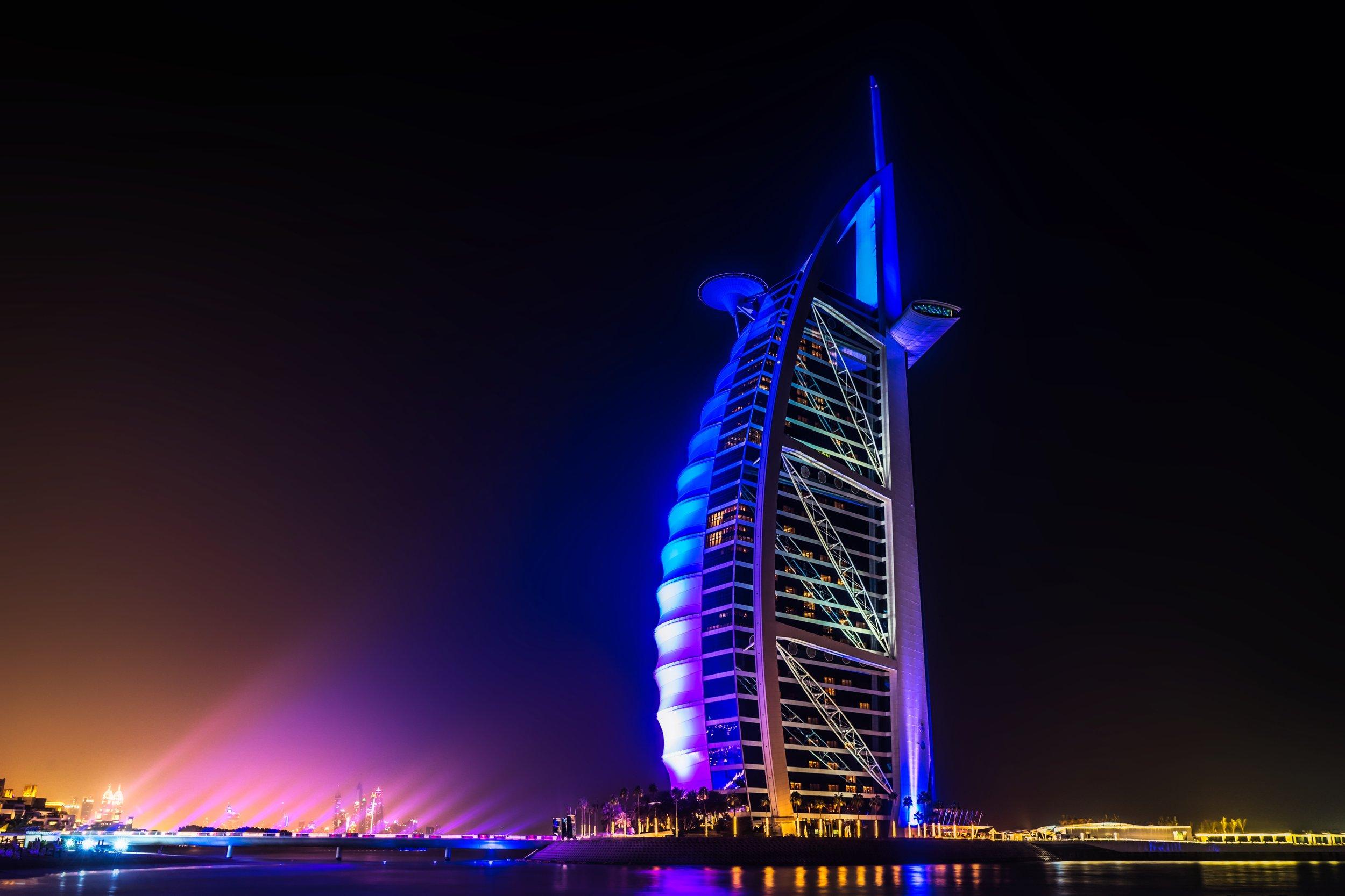 Burj Al Arab Hotel   , Dubai, UAE.