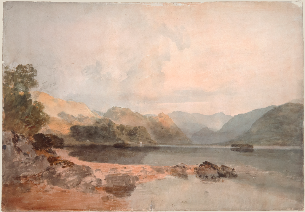 Derwentwater from Friar's Crag,1801. Turner, Joseph Mallord William © Tate, London 2019.