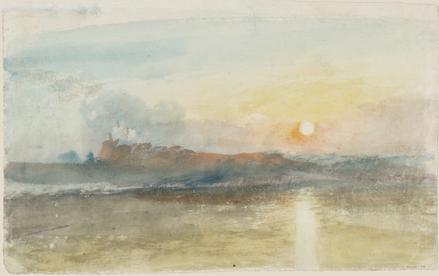 Dunstanburgh Castle c1828. Turner, Joseph Mallord William 1775-1851. Tate. Accepted by the nation as part of the Turner Bequest 1856. (c) Tate, London 2019