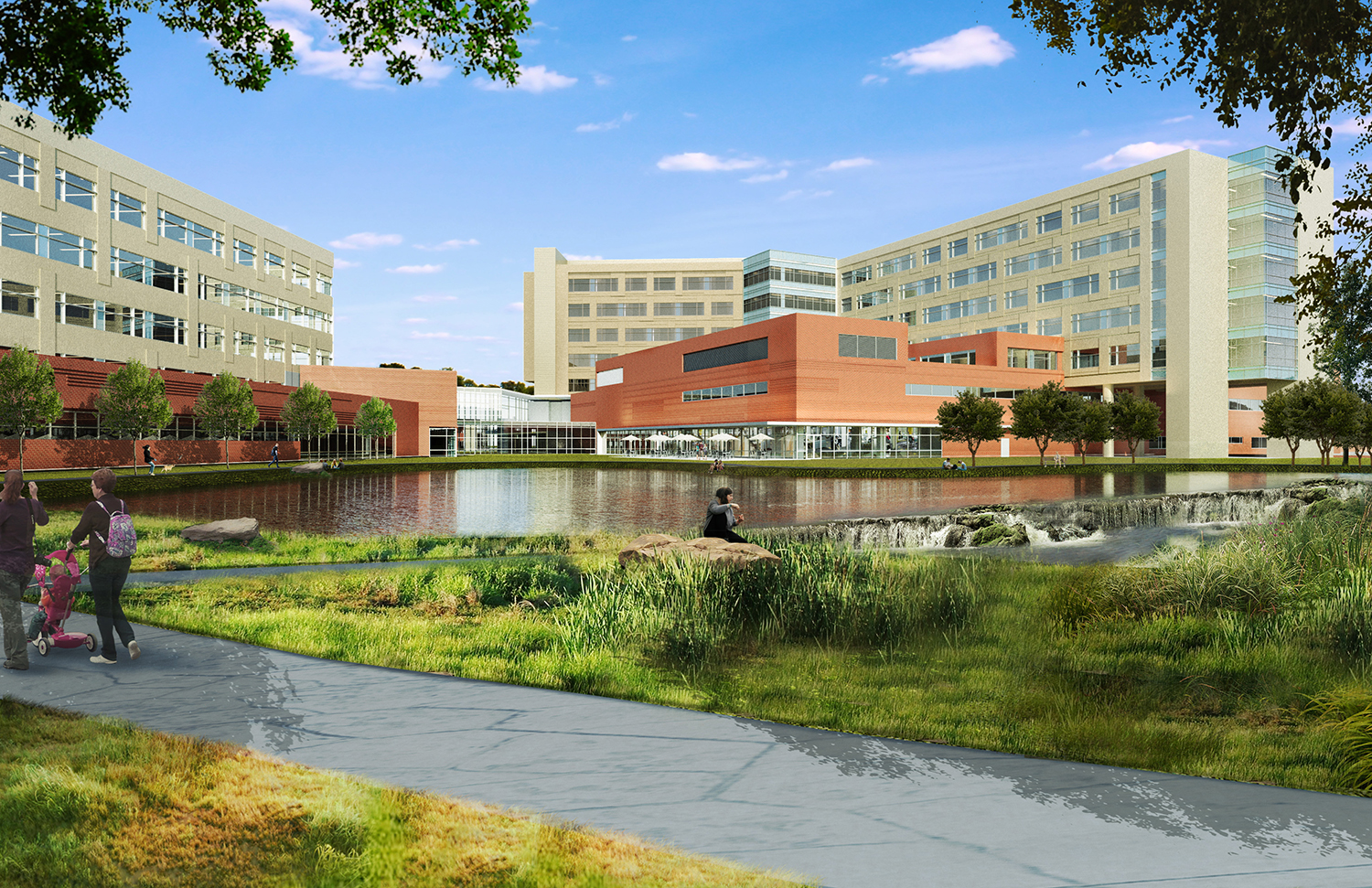 New Medical Office Building and Campus Environment Rendering Courtesy of Gresham Smith