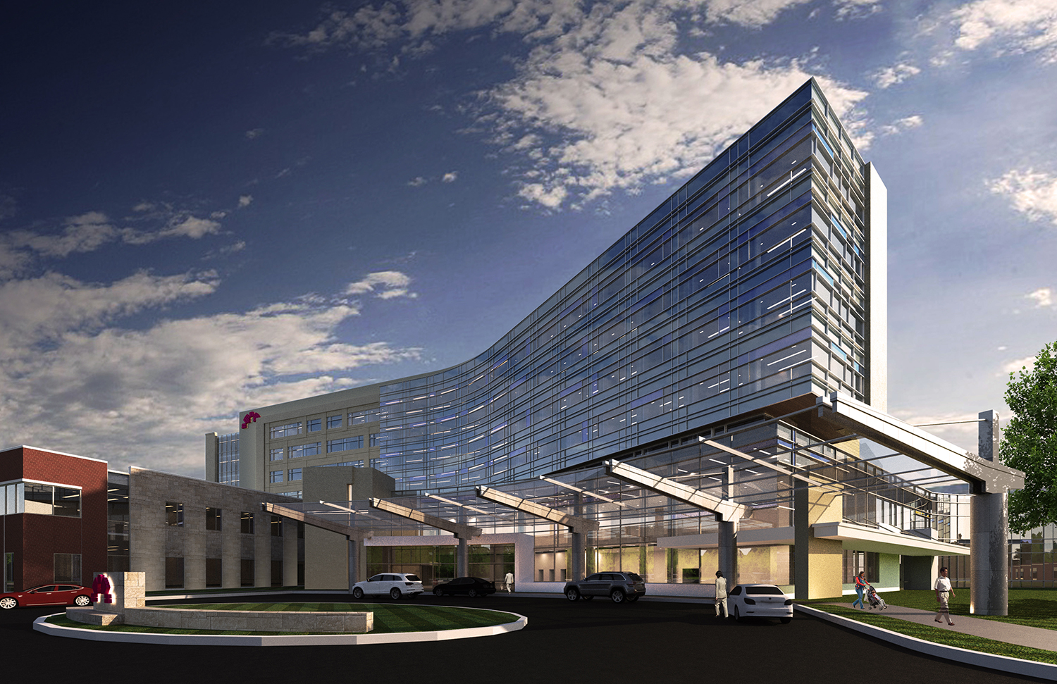 New Patient Tower Rendering Courtesy of Gresham Smith