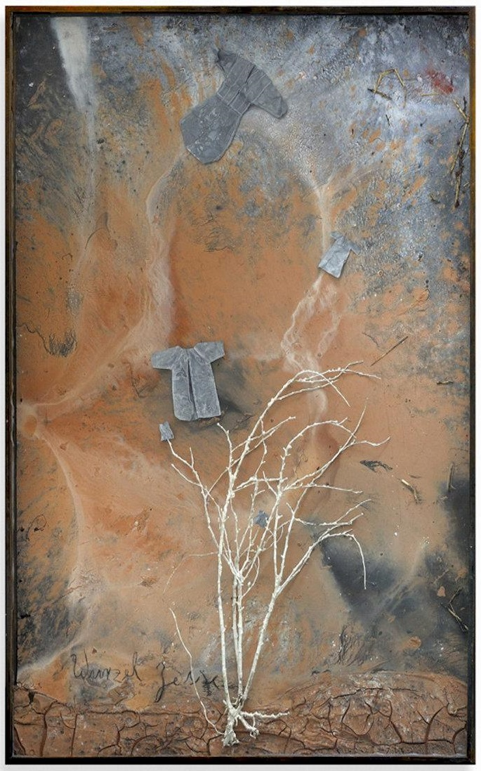 """Tree of Jesse"" by Anselm Kiefer, 1987. The prophet Jeremiah saw the line of kings descended from David broken, but he also heard from the Lord a promise of a Righteous Branch that would be raised up from David's ashes. In Advent, we learn to look away from fallen heroes and to hope in King Jesus, the one who establishes justice in all the earth."