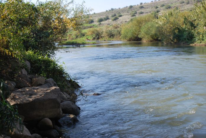 The Jordan River in Israel. John the Baptist held much of his preaching ministry in the regions surrounding the Jordan.