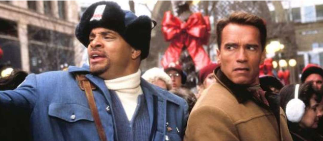 Sinbad and Arnold Schwarzenegger in  Jingle All the Way  (1996)