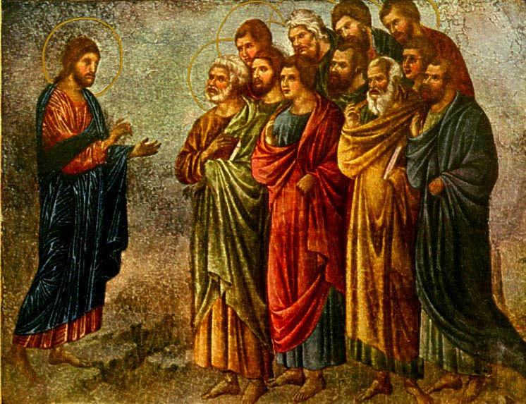 The Sending of the Apostles  by Duccio Buoninsegna (1311)