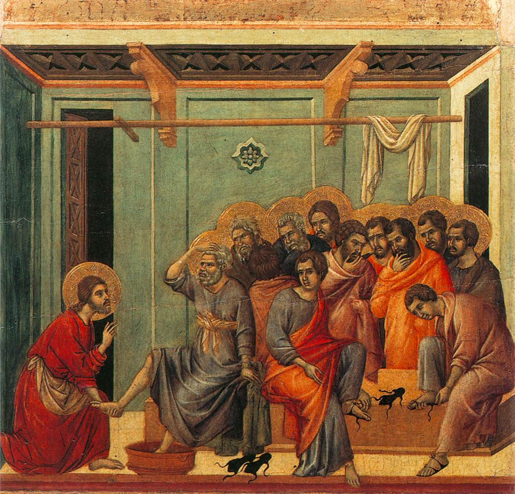 Washing of the Feet  by Duccio, 1308.