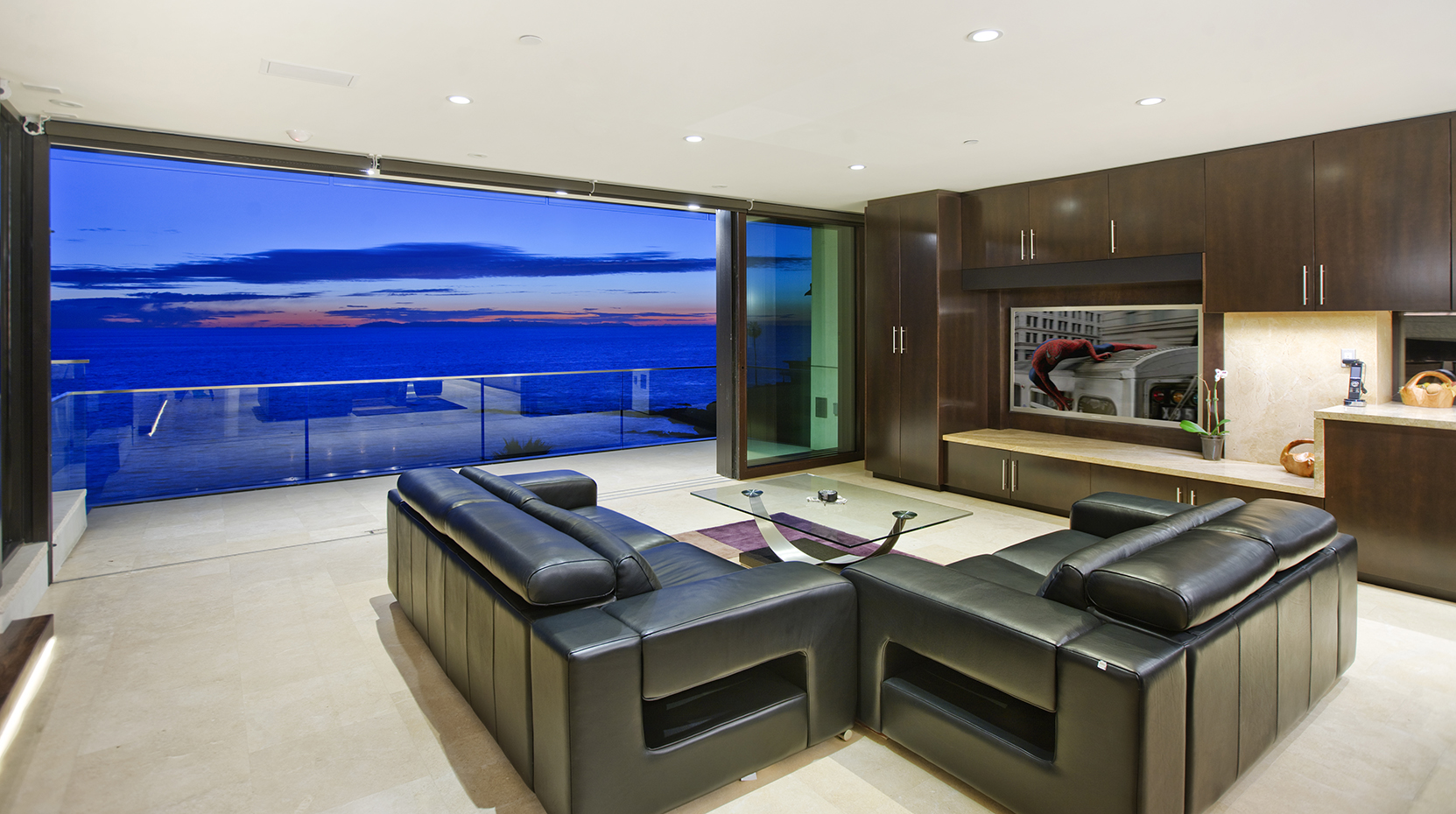 Oceanfront Modern  Residential & Home Theater Gallery