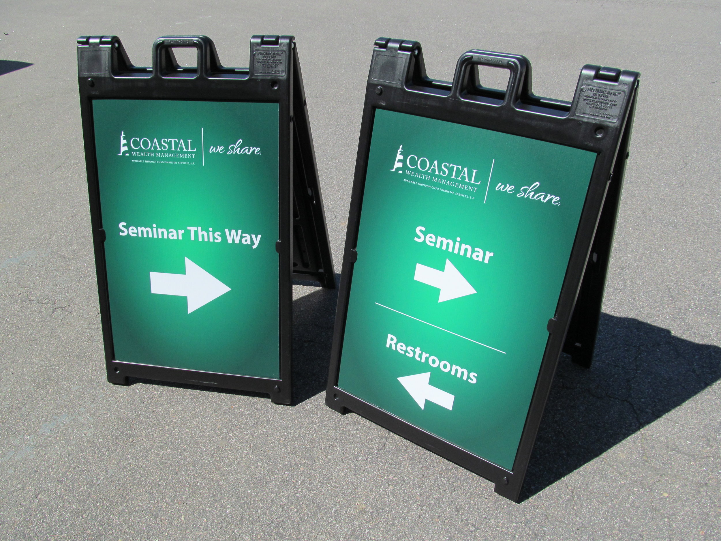 Our A-Frame signs are perfect for special events, directional information, temporary sign solutions, and so much more.