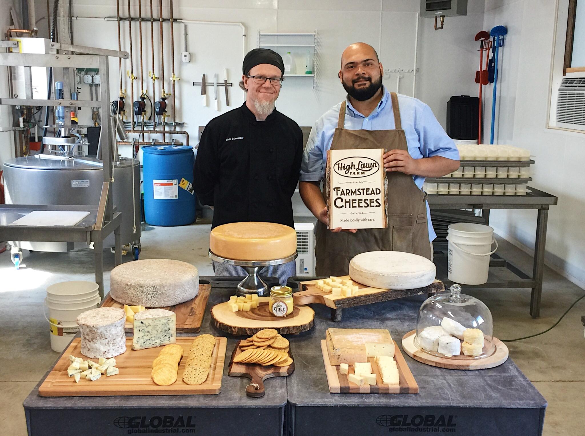 Matt & Berto cheese room.JPG