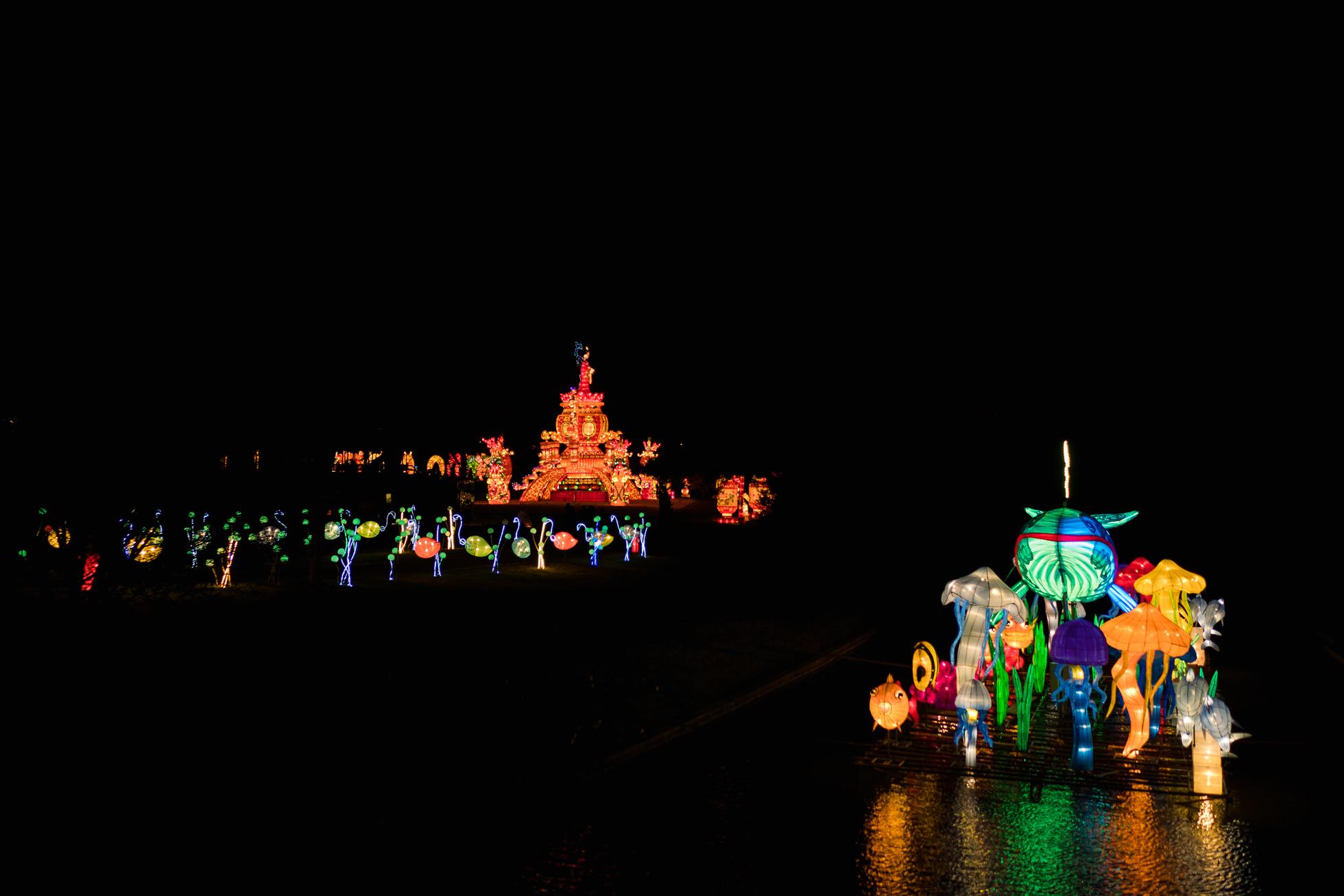 norfolk botanical gardens, lantern asia exhibit