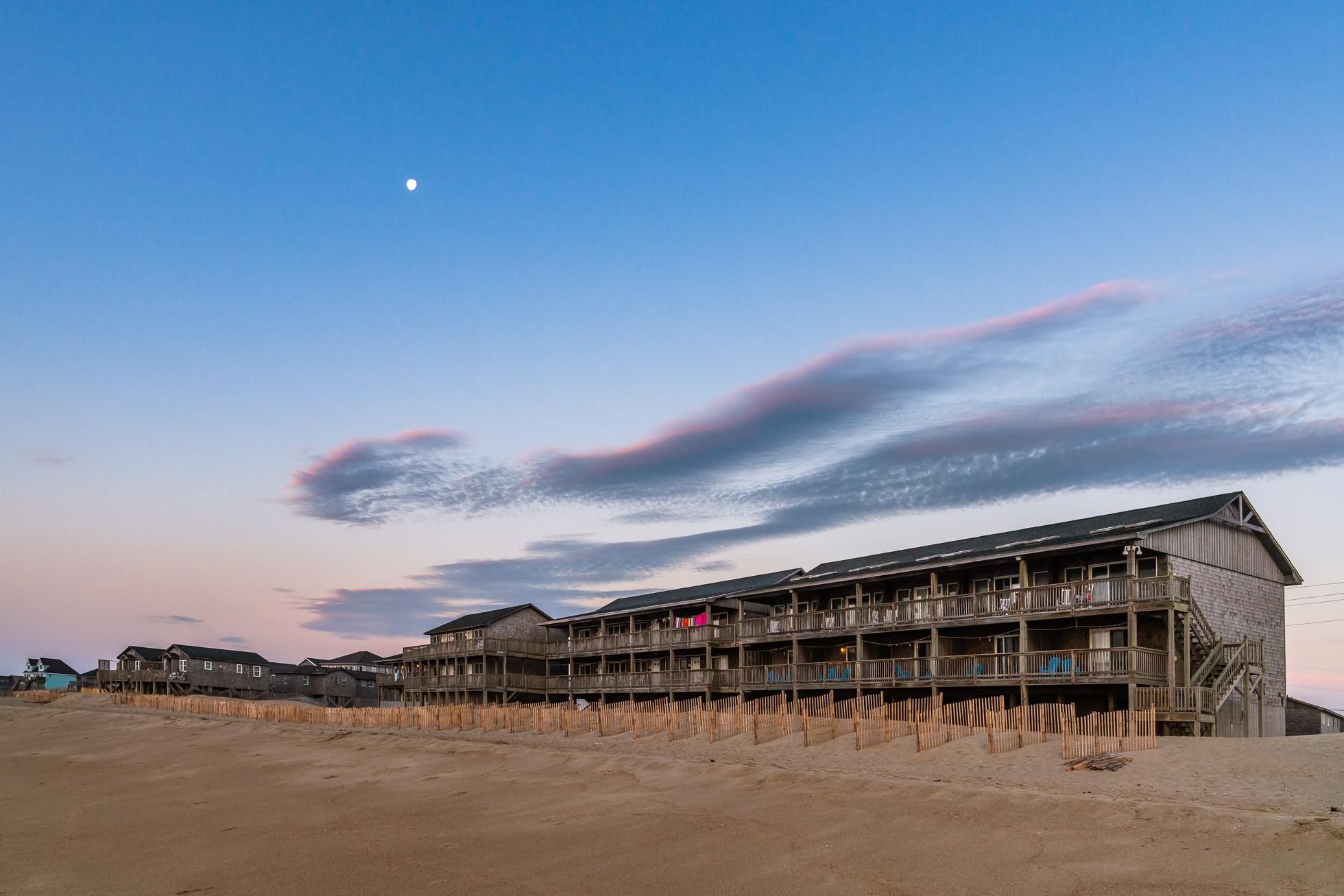 Sunrise at the cape hatteras motel buxton outer banks North Carolina