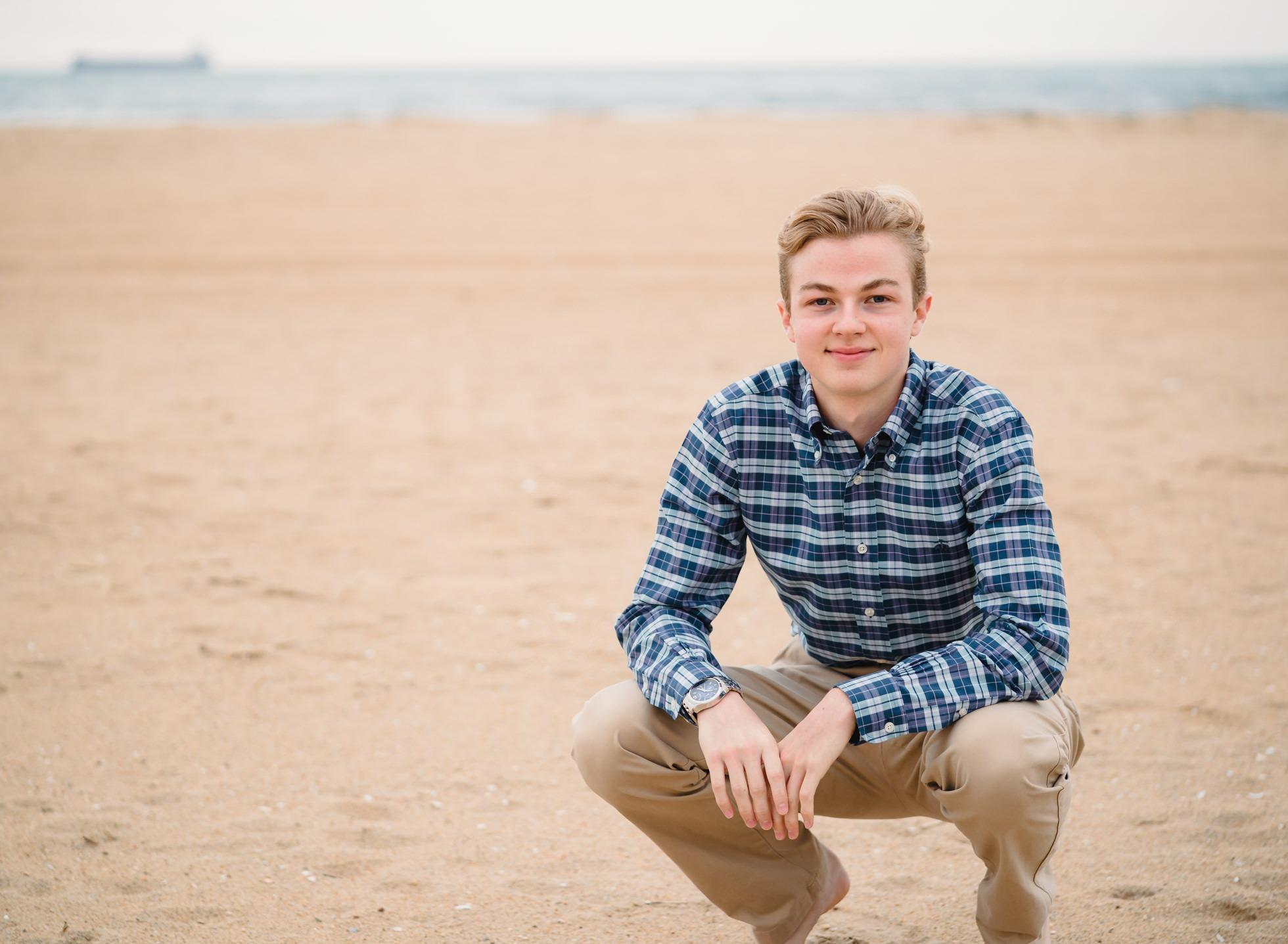 first landing state park senior portraits, Virginia beach oceanfront, cox high school photographer