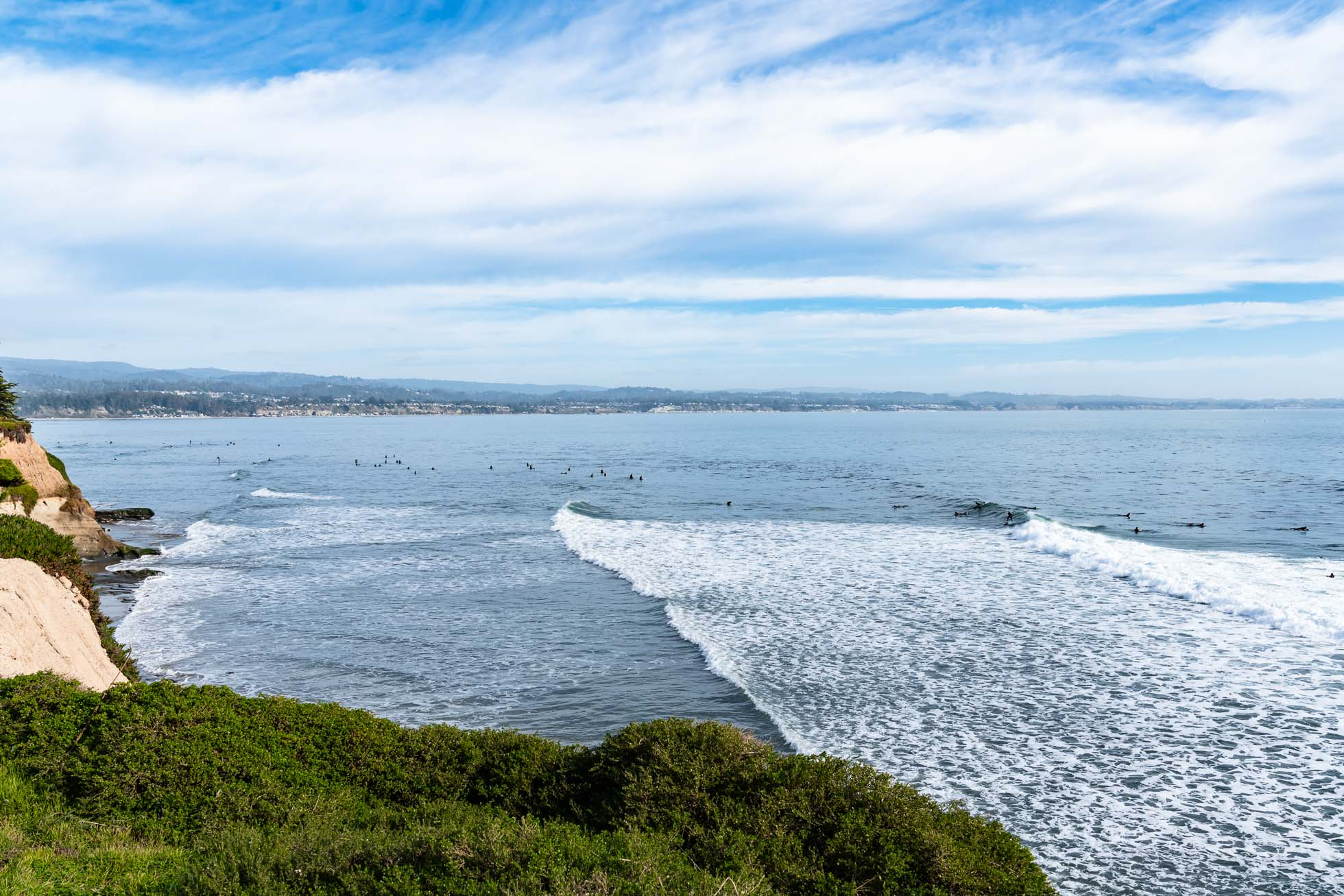 santa cruz, surfing shoreline