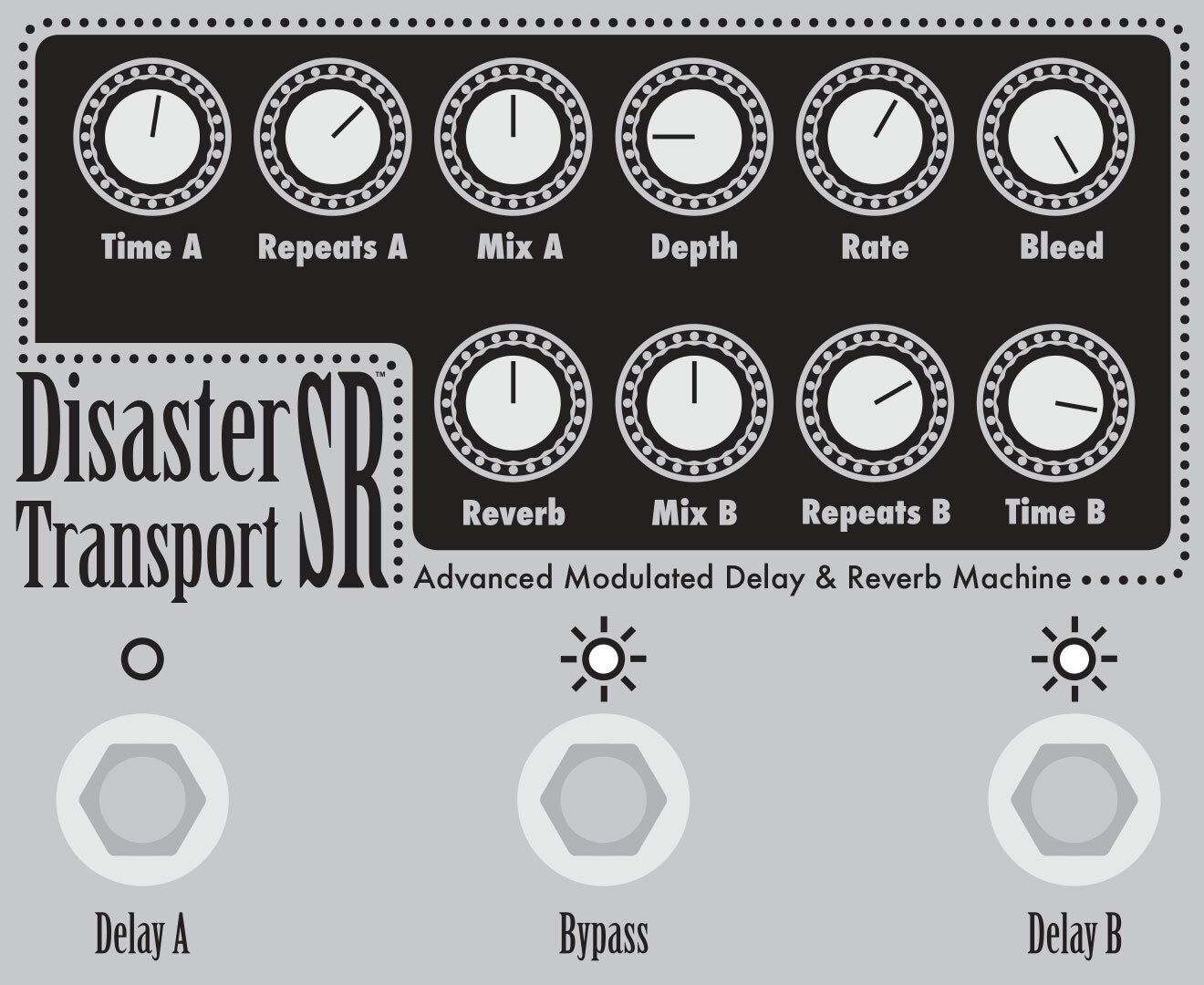 Series/parallel with modulation & reverb