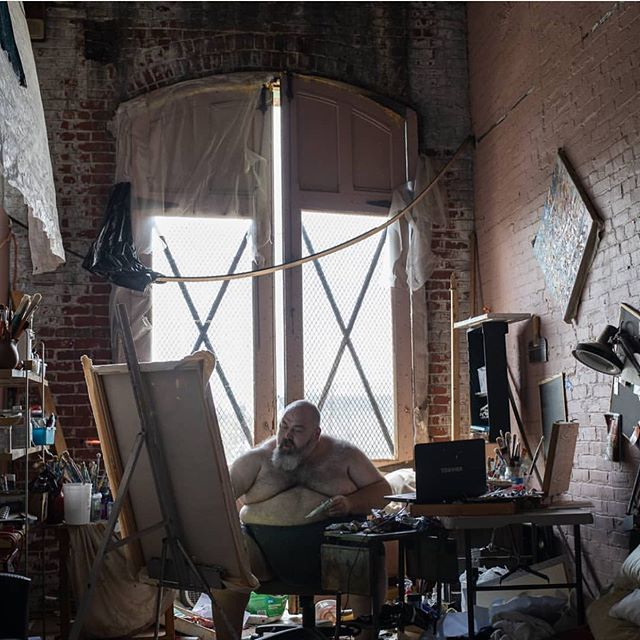 The great Ruslan Khais in his Papermill studio. @khaisruslan 📷@canbrent . . . #Papermillartist #philadelphiaartist #phillyartist #kensingtonphilly #lovewhereyouwork #phillymaker #phillycrafter #artstudios #phillyartists #phillyart #artiststudios #philadelphia #artinphilly #phillyarts #phillyartcollective #practiceart #dowhatyoulove #phillymakers #phillytheater #phillyactor #phillycreatives #phillyphotographer #phillypainter #phillystudio #phillyphilly #phillylove #phillypride