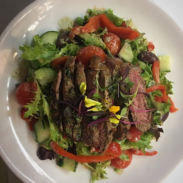 Our Grilled Steak Salad in all its glory!