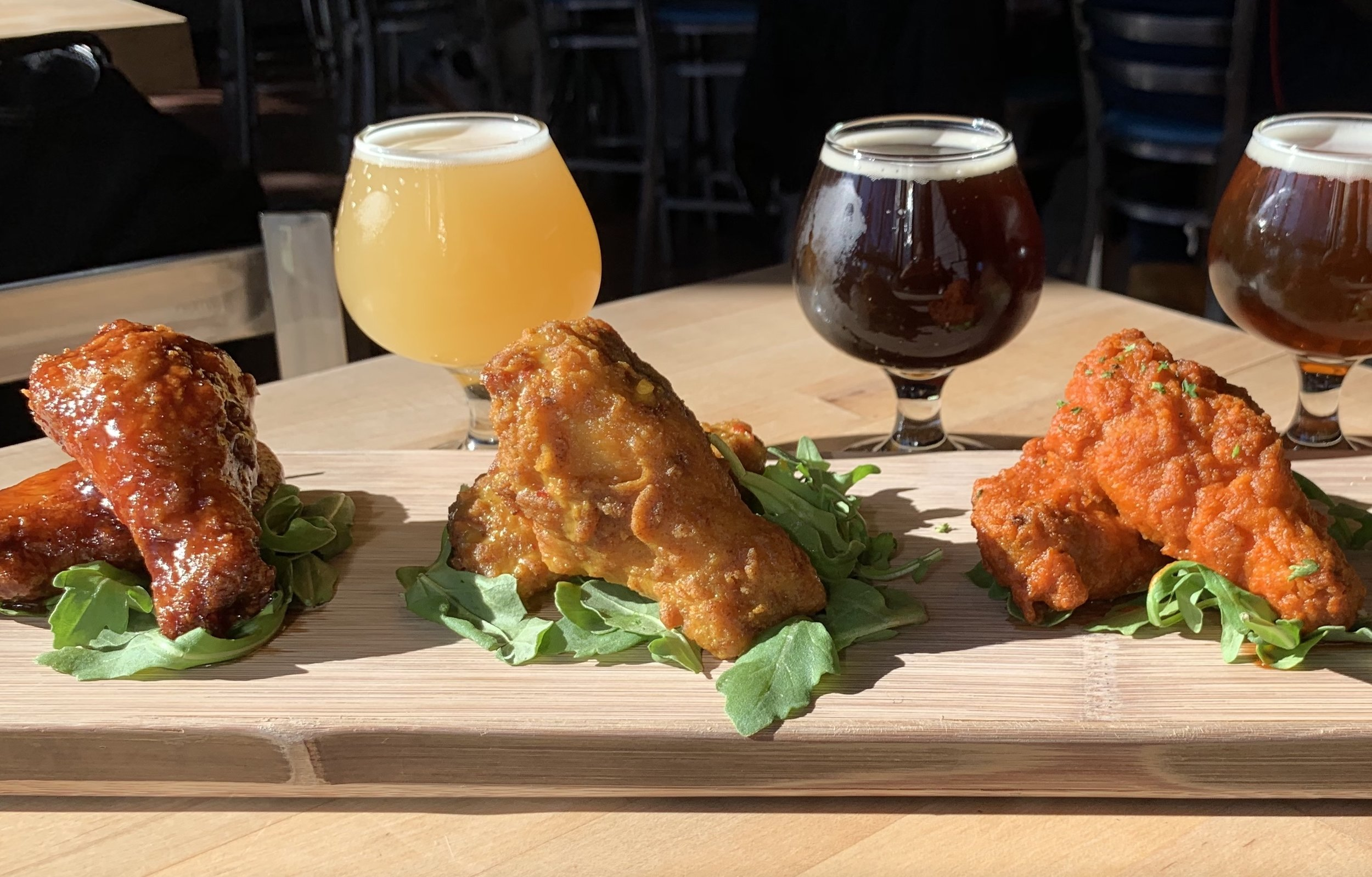 Wednesdays - 50¢ Wing NightSix rotating Slumbrew sauce flavors. Dine in only. 6PM 'till sell out. It's a thing. People love it.