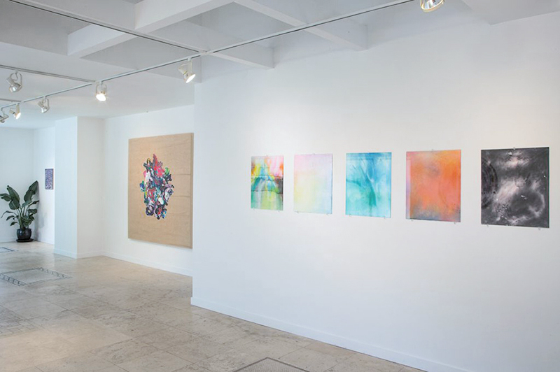 Post-Psychedelic Dreams , Installation view, Grey Area/Grey East at Glenn Horowitz, East Hampton, NY. Also pictured: Adam Henry, Dustin Yellin