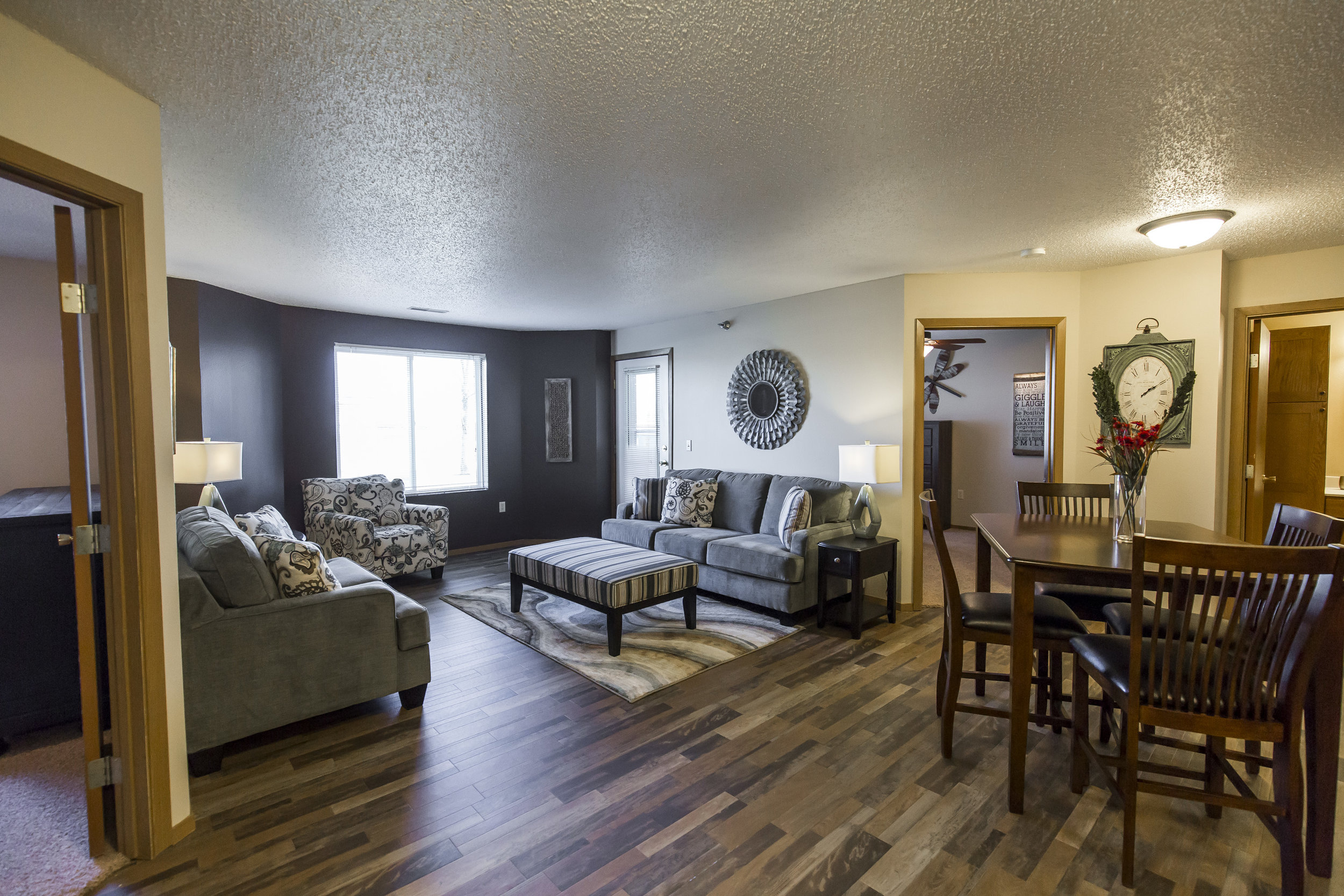 Our open floor plans with natural light are inviting and cozy