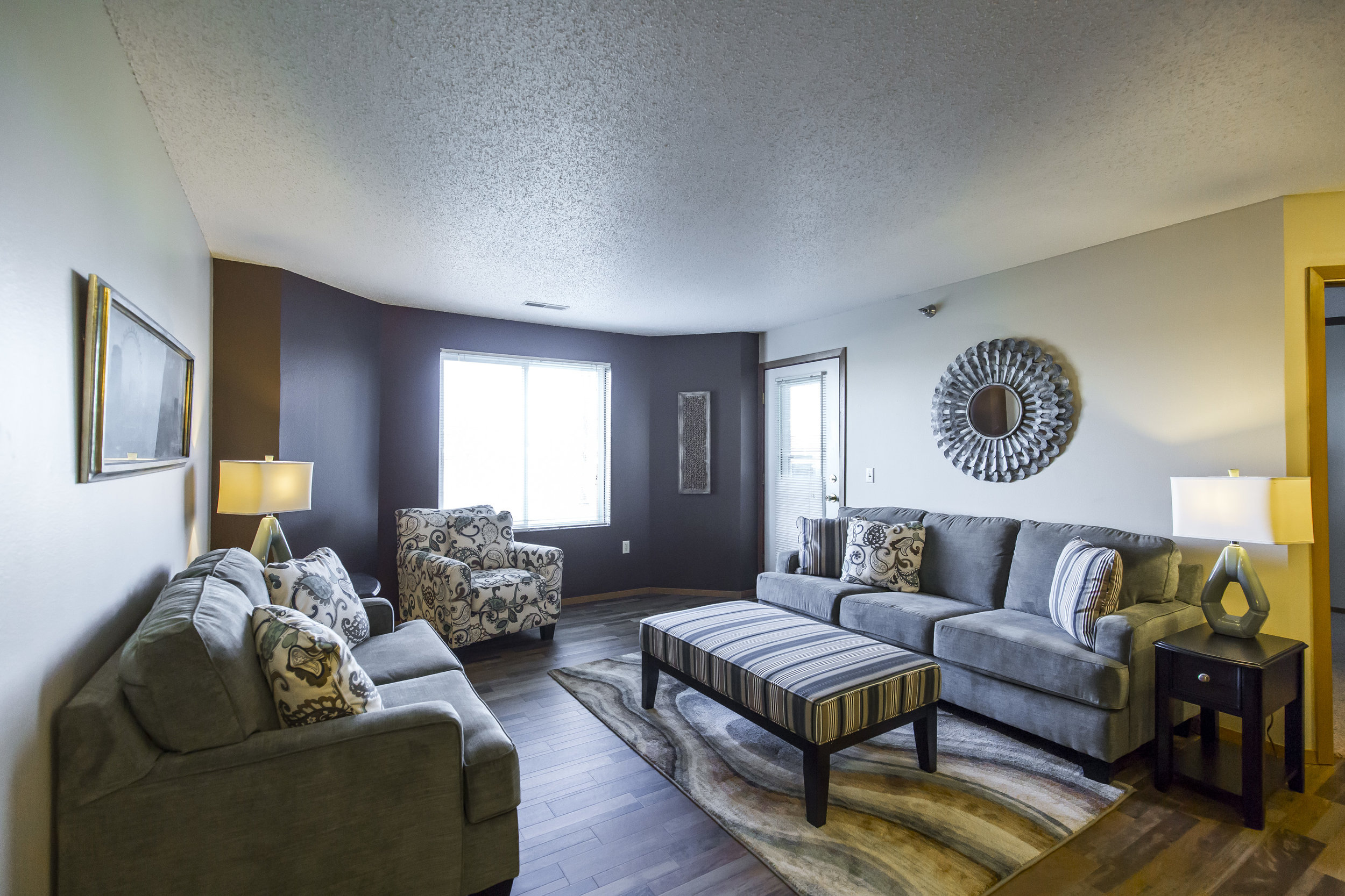 The Living Room Provides Access to the Balcony or Patio