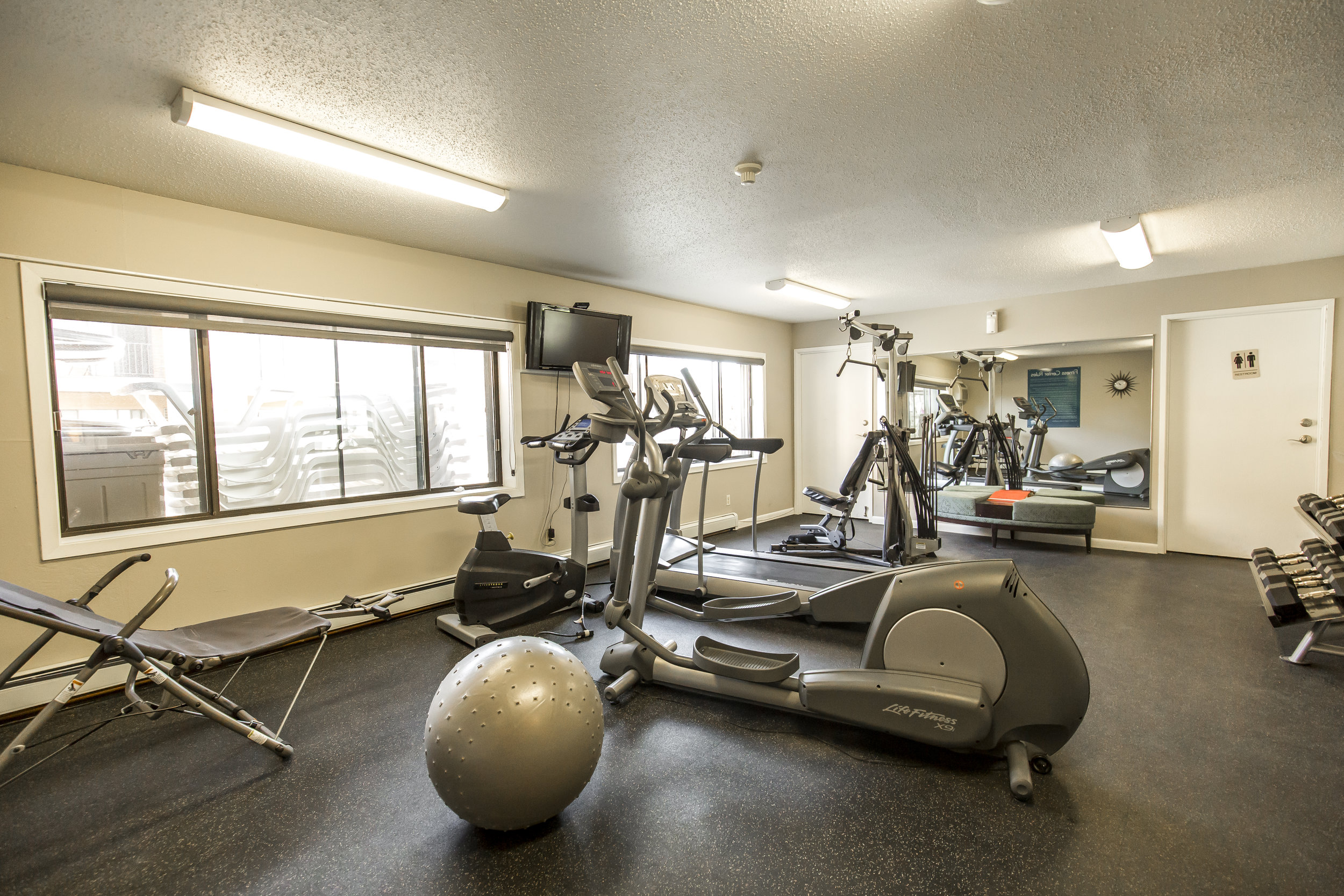 On-Site Fitness Center features Cardio and Strength Equipment
