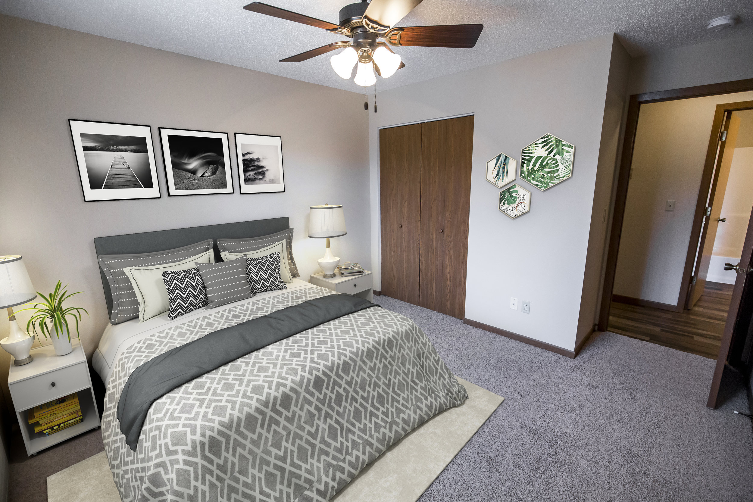 Spacious Bedrooms with Walk-In Closets and Bathrooms