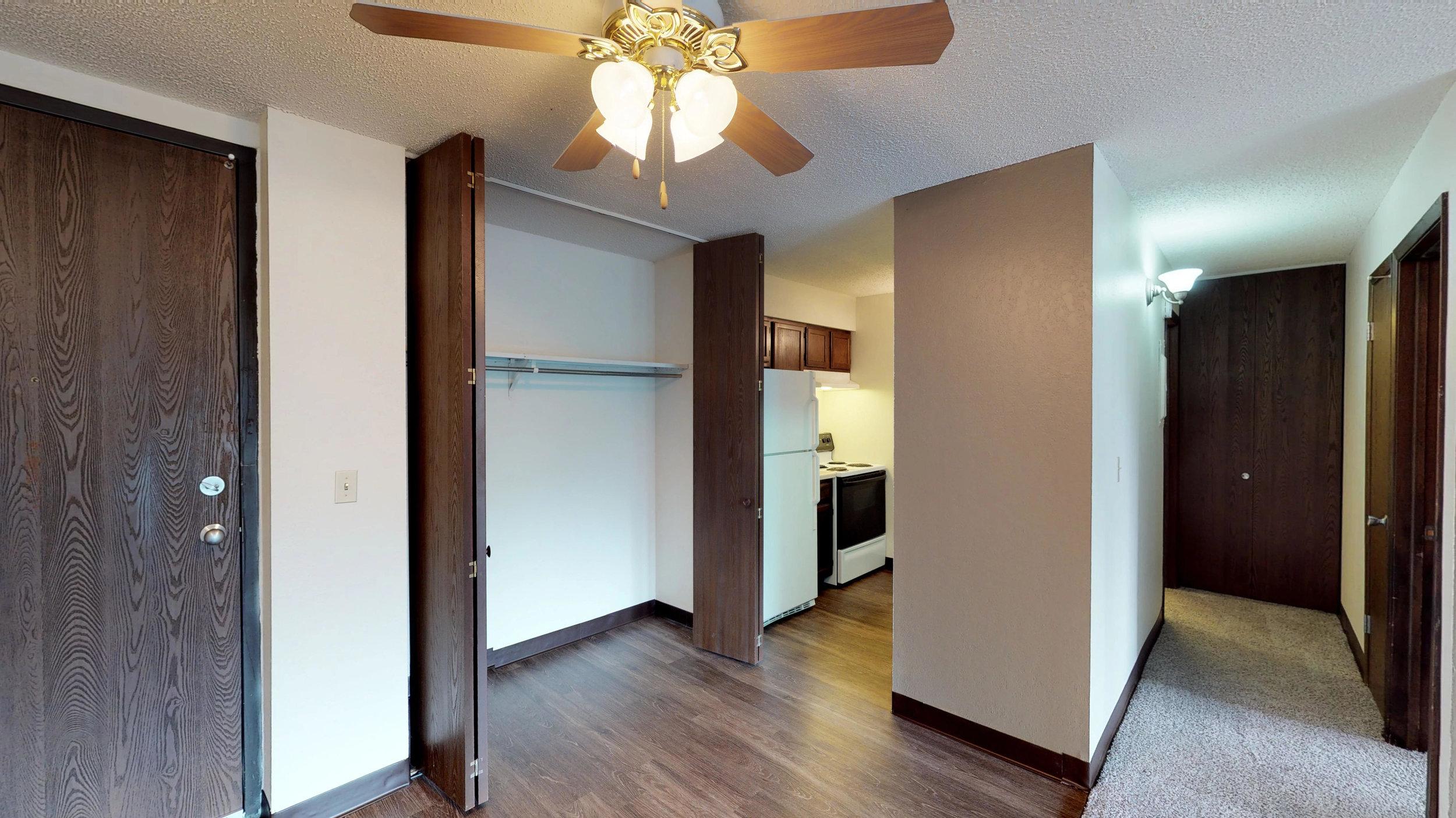 Spacious Living Room Closets