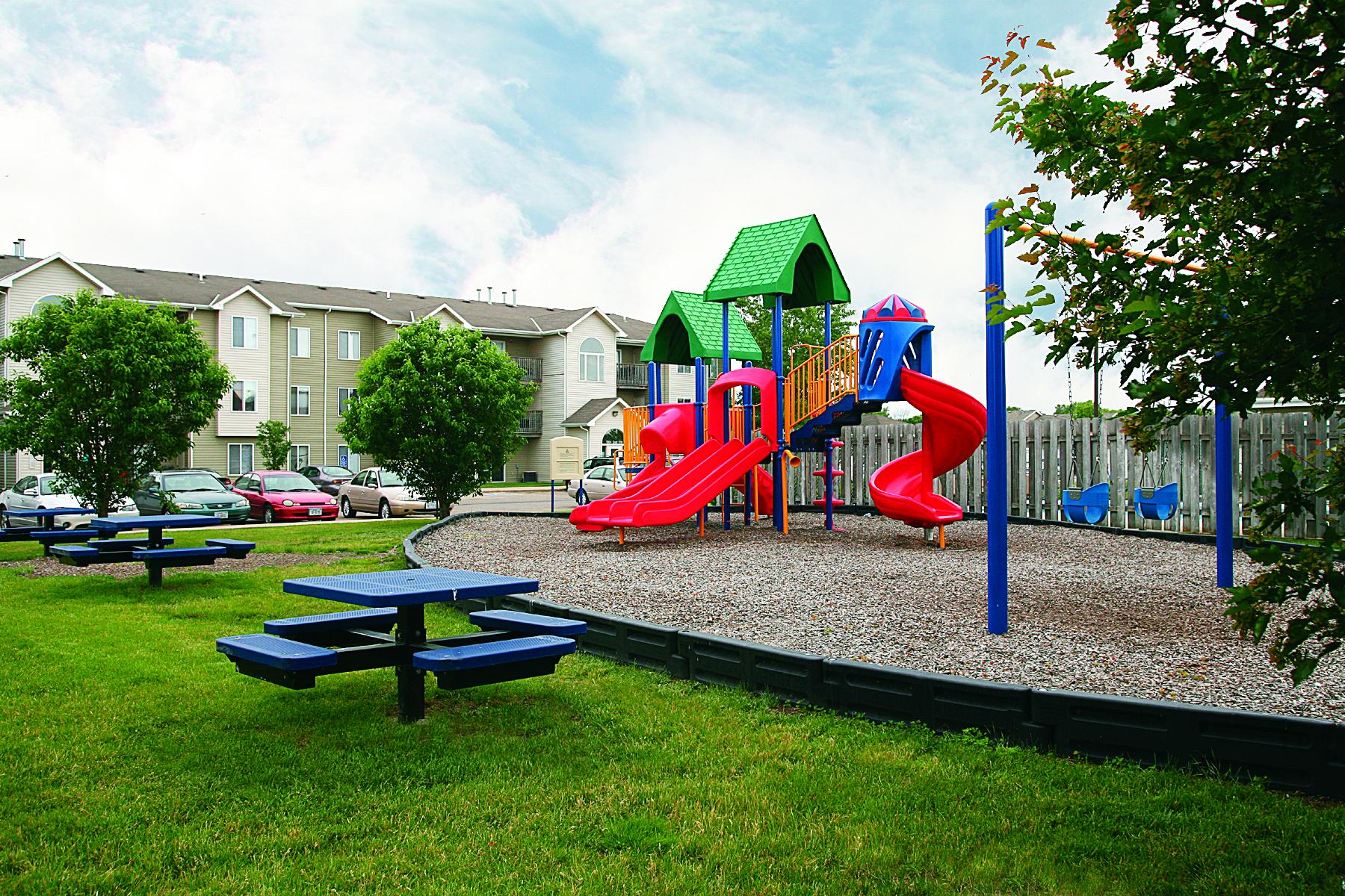 Run Around at the Community Playground