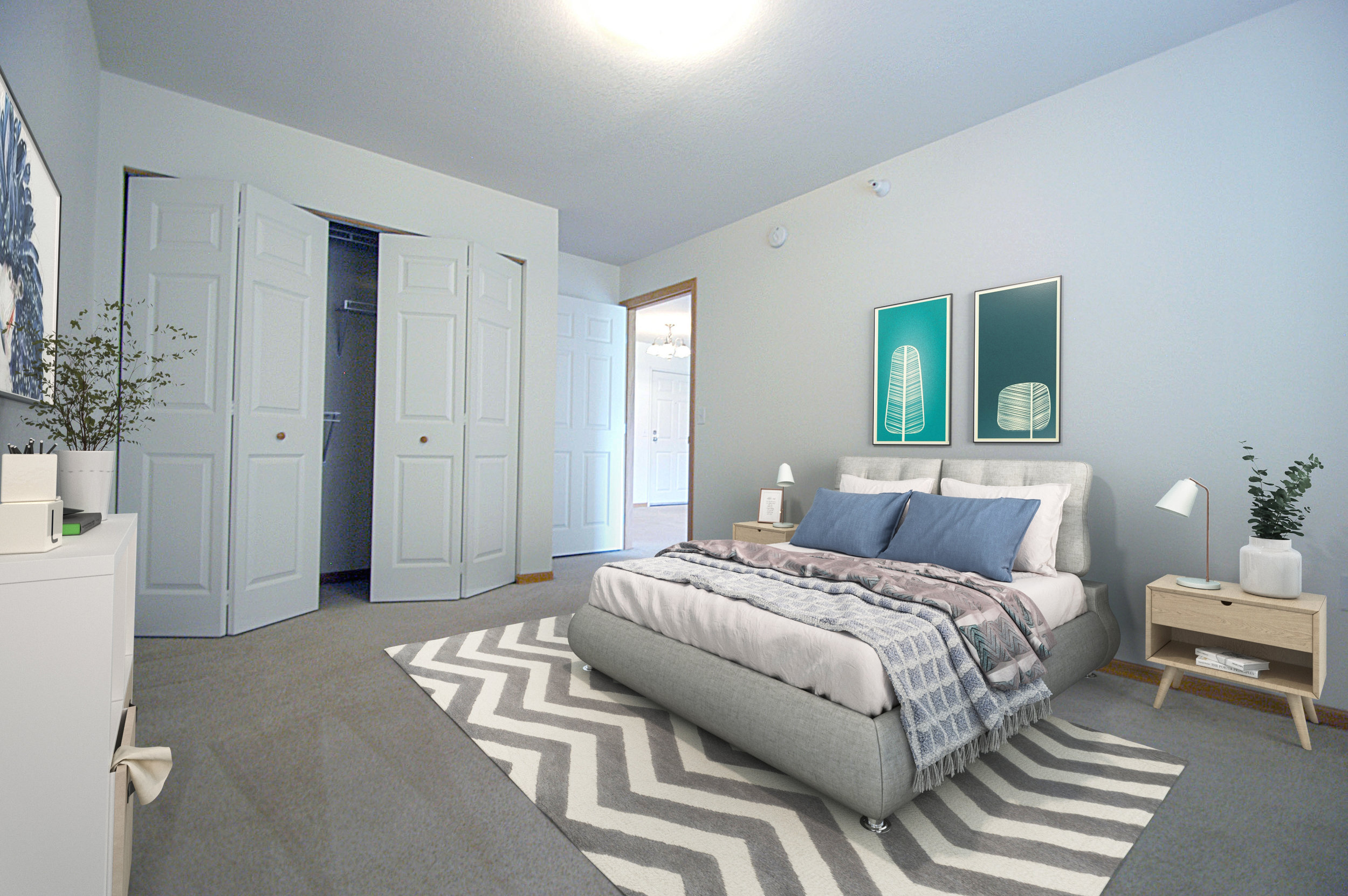 Generous Sized Bedrooms and Closet Space