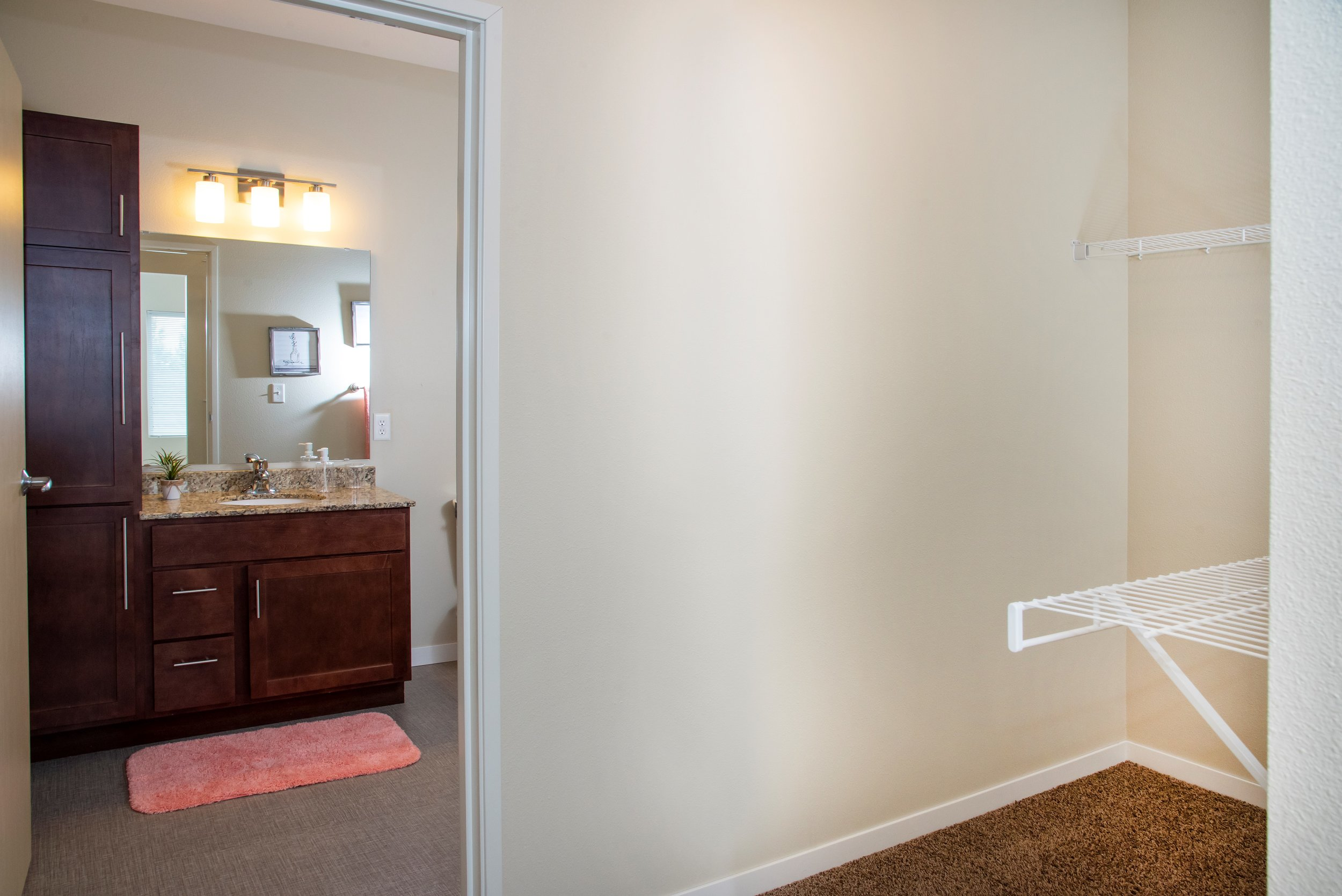 Spacious Walk-In Closets with Private Bathrooms