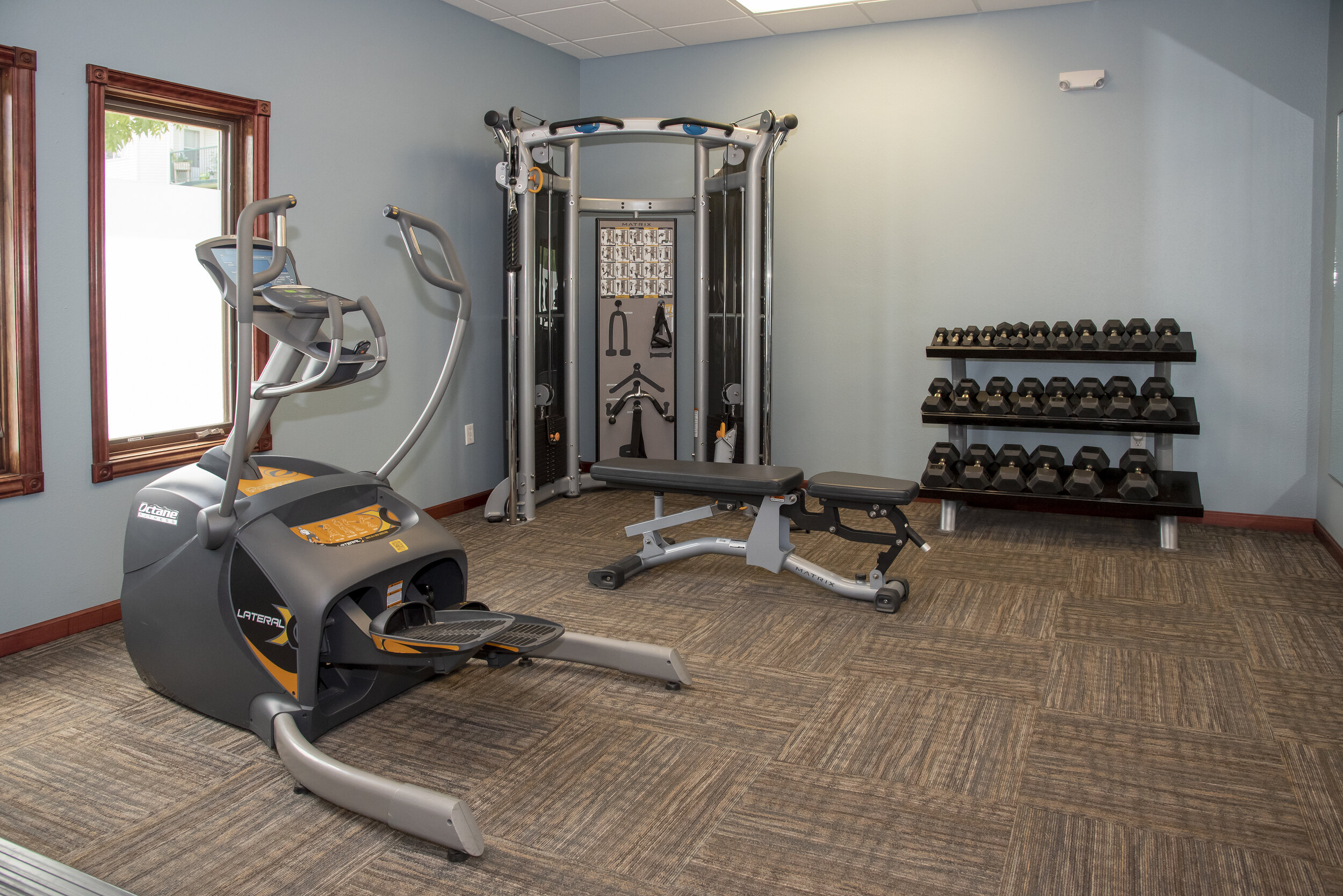 Fitness Center with Weights & Cardio Equipment