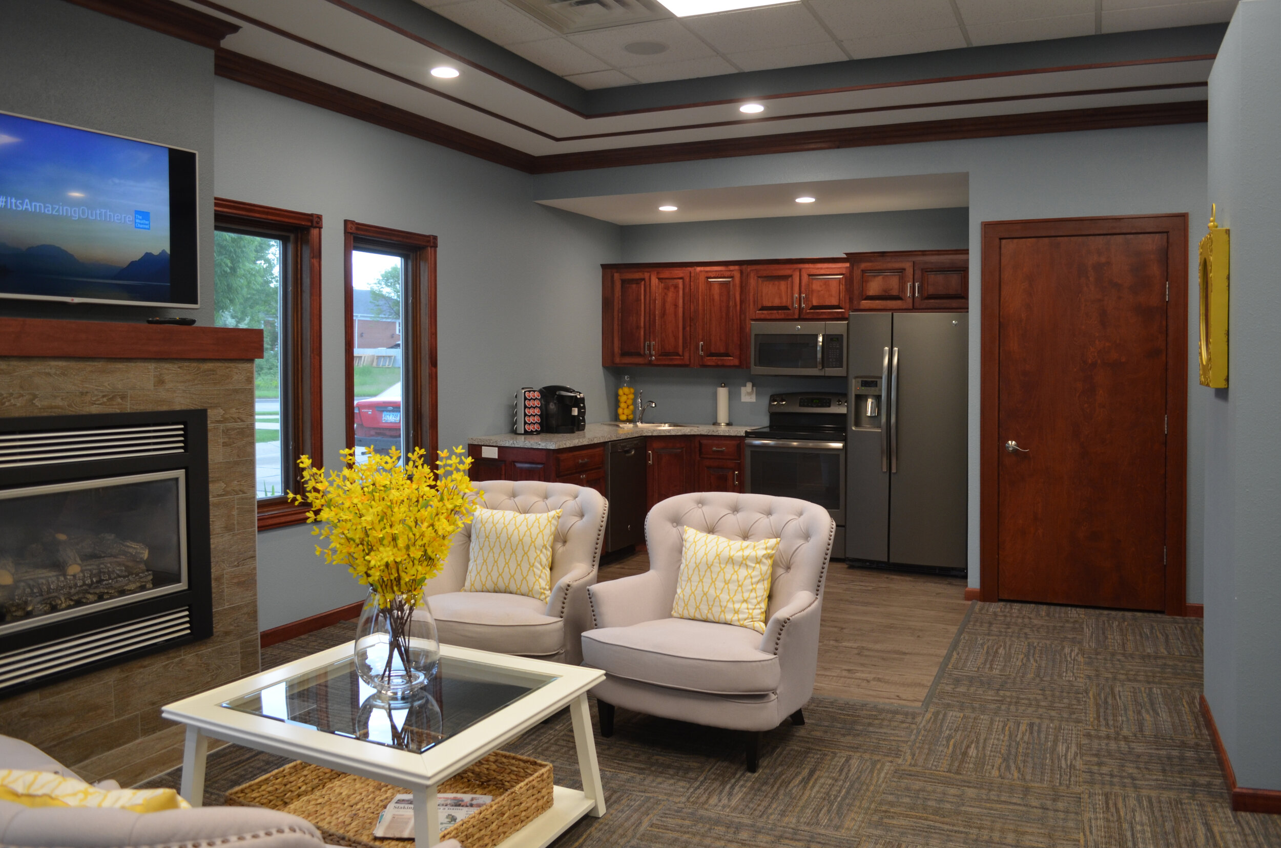 A Beautiful Community Room for Relaxing with or Entertaining Guests
