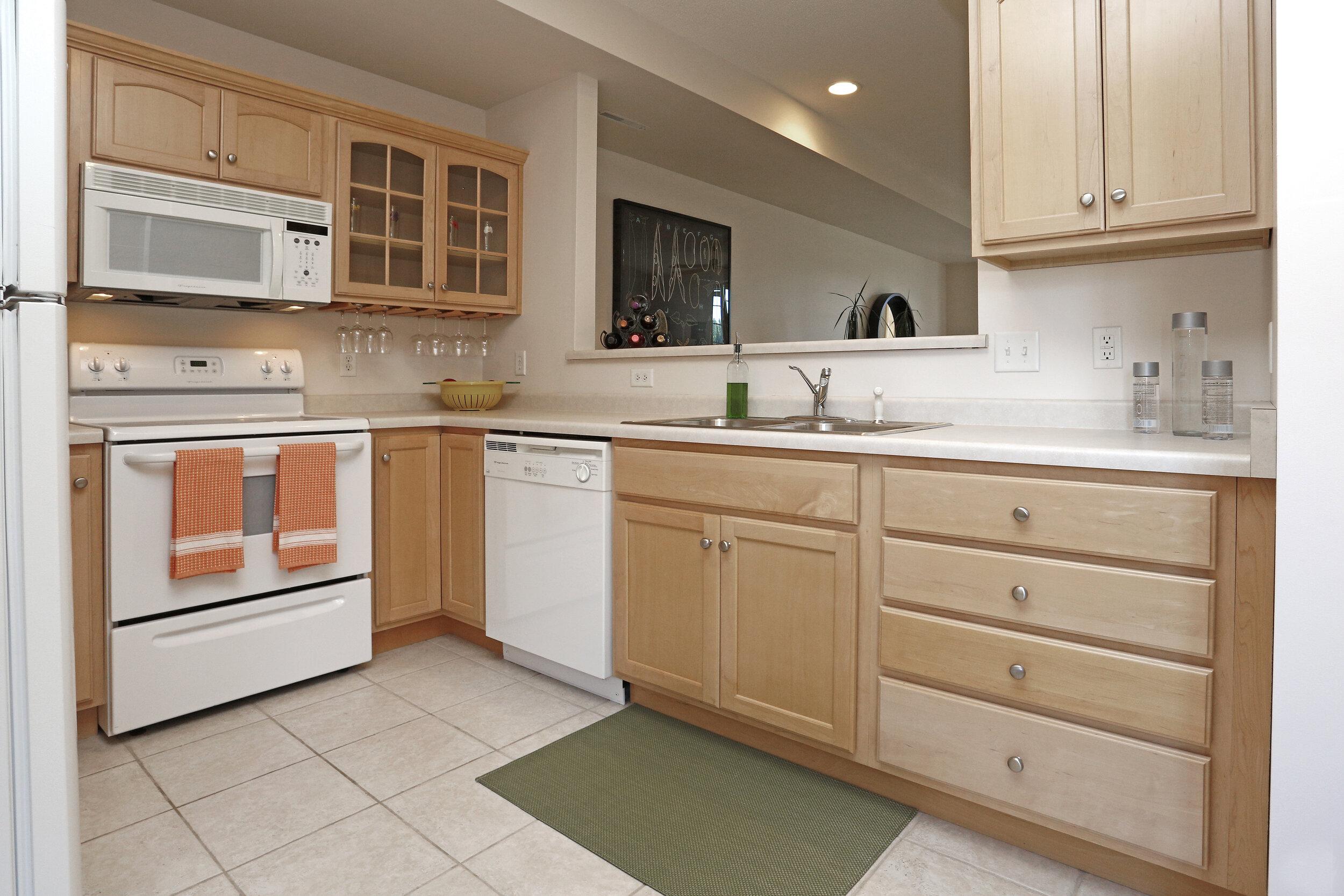 Open Kitchens Overlook the Living Area