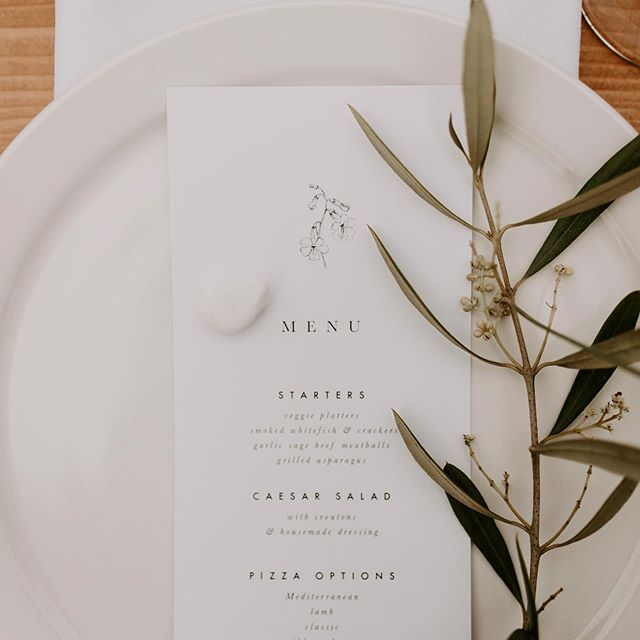 from menus, to statement farmhouse tables, to chairs, we've got you covered! And we're offering 30% off any wedding or event from November-May for off season pricing! Share with your engaged friends 🍾