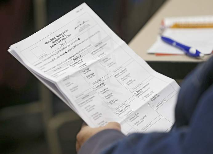 iowa using paper - Iowa officials say they are using old-school technology — namely paper ballots — to thwart cyberterrorists.