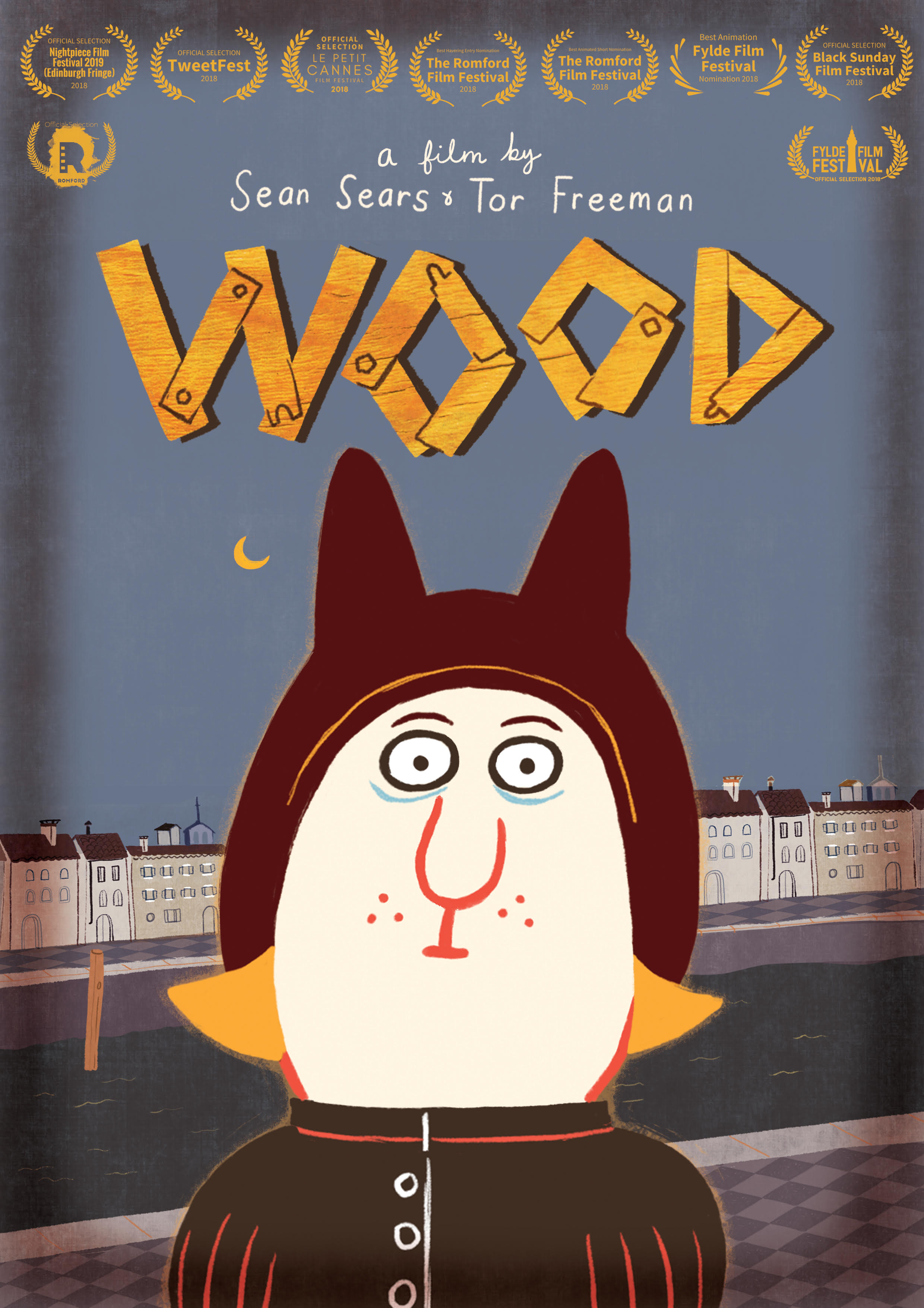 - Synopsis:In a time past, a luckless and lonely doll-maker passes his days walking the streets and canals to his shop and home again. Watching the world go by without him, he longs for the happiness others have. Could a doll of his own ease his heartache? Or will things go from bad to worse?Wood is an eerie animated fairytale about guilt and loneliness, and the past coming back to haunt you.