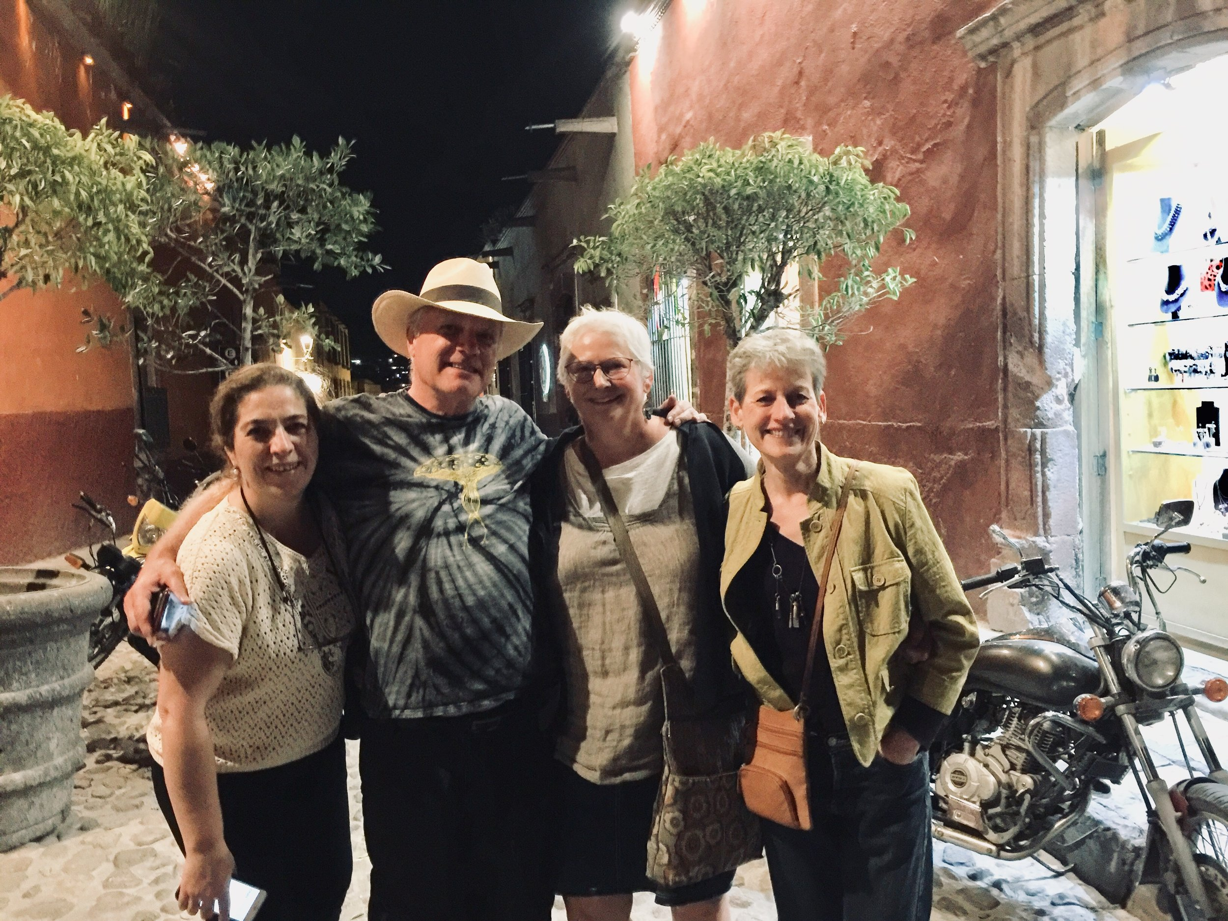 Ana Elena Martinez, Geoffrey Gorman, Kathie Vezzani and Morgan Brig in San Miguel
