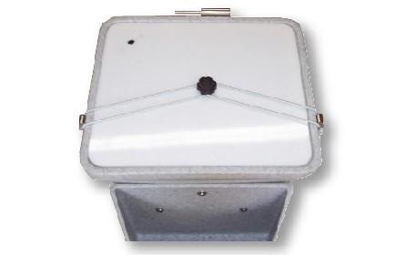 Solids Bin Lid for Composting Toilet