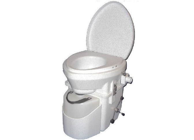 Composting Toilet With Spider Handle
