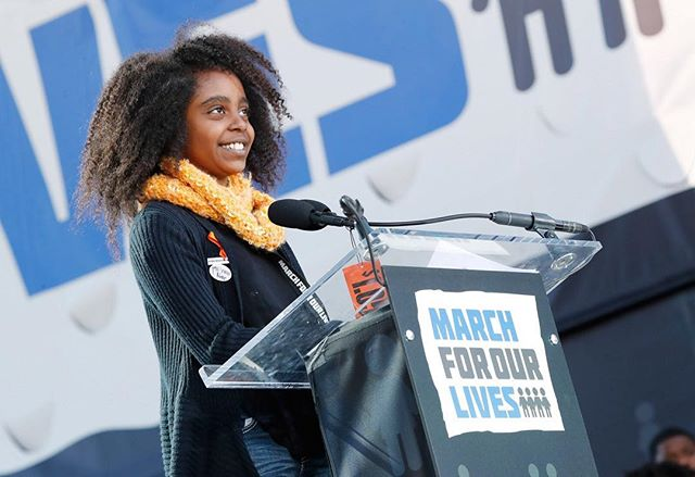 """Young activist Naomi Wadler's fight for Black girls didn't end after the March for our Lives ""Black women [are] really what I like to focus on because we're not really seen as women. We're seen as things,"" she stated. ""I love treating people like people."" Wadler, whose speech and activism made waves after the school shooting in Parkland says the attack really accentuated her point about gun violence and people of color. ""When you have mass shootings in Chicago you don't really see that getting all this attention,"" she explained. ""But when Parkland, which happened to some white kids, that's suddenly the biggest thing that's ever happened to us and that's unacceptable."" Since staging her elementary school's gun violence walkout, Wadler was a guest on ""The Ellen DeGeneres Show,"" made Teen Vogue's 21 Under 21 list, and spoke at events like the Women in the World Annual Summit. She works with multiple organizations, including holding a seat on the board of Georgetown Law's Initiative on Gender, Justice, and Opportunity. ""I'm on a board that is focused with all girls of color and that our mission is to get rid of adverse discipline in schools,"" she explained. ""A white student talks back to a teacher and they get detention but then a Black student talks back to a teacher and the student has the police called on them. That's a problem."" "" (via @nowthisnews)"
