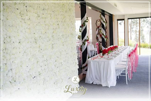 One of the biggest day for the bride is the Wedding Day.  Record the memories with a beautiful background from Luxity Backdrops.  #perthflowerwall #backdrops #wedding #perthwedding #luxitybackdrops #luxity