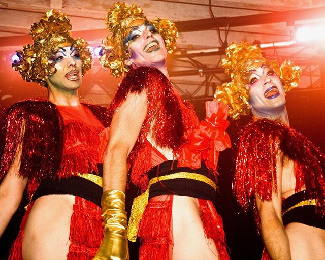 Blast from the past!! From our days at @glitterbombnyc gorgeous #redlotusroom where we came into being!! With these stunners #thepixieharlots @matthewcharlescrosland @machinedazzle and @thornedarrell . Our forever muses and loves!!!