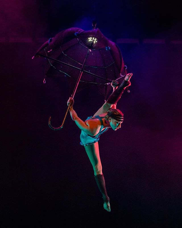 So thrilled to have @thereallizarose showing her gorgeous aerial umbrella act at #blunderlandnola this Saturday the 13th!!! Wowza!!!!!