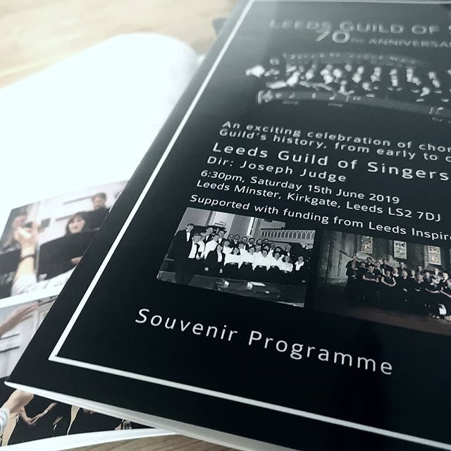 The souvenir programmes have arrived! 🤩 Concert TOMORROW - Leeds Minster, 6:30 pm. See you there!