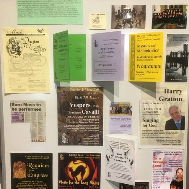 We are still flying high from our 70th Anniversary Concert last weekend. 🤩 Here are some shots of the impressive display of our history put together by our invaluable librarian and tenor, David!