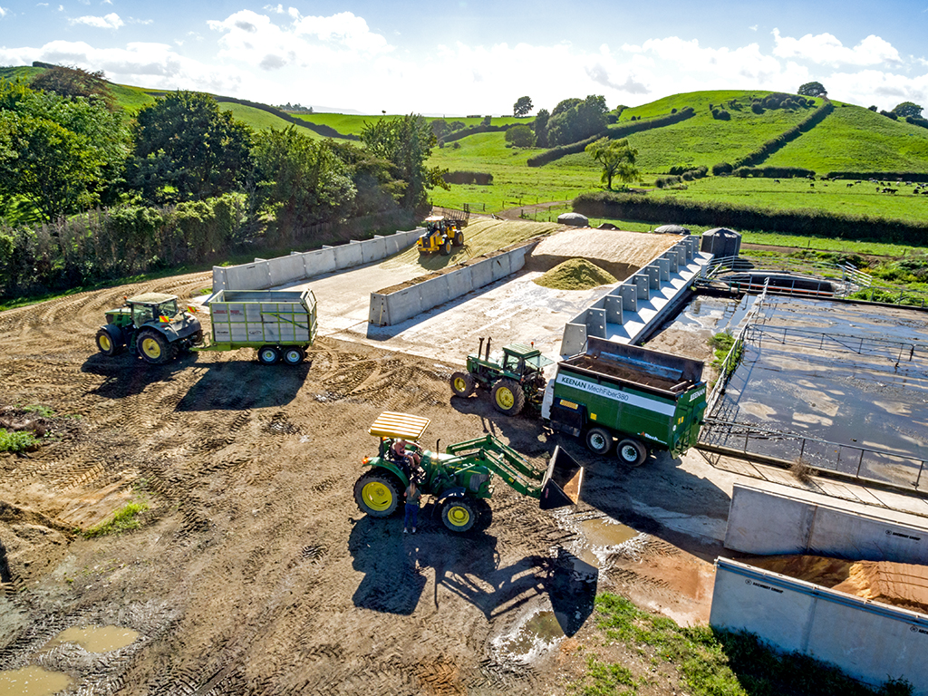 A Silage Bunker In Action