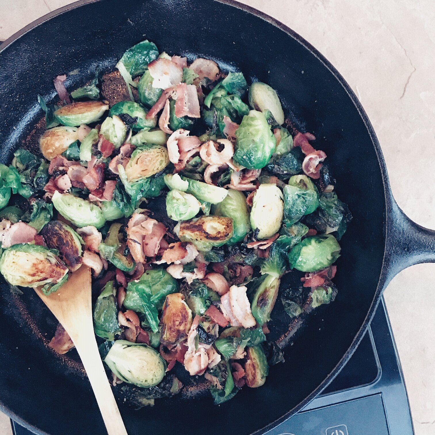 Angi Fletcher | Recipes: Brussel Srpouts with Bacon
