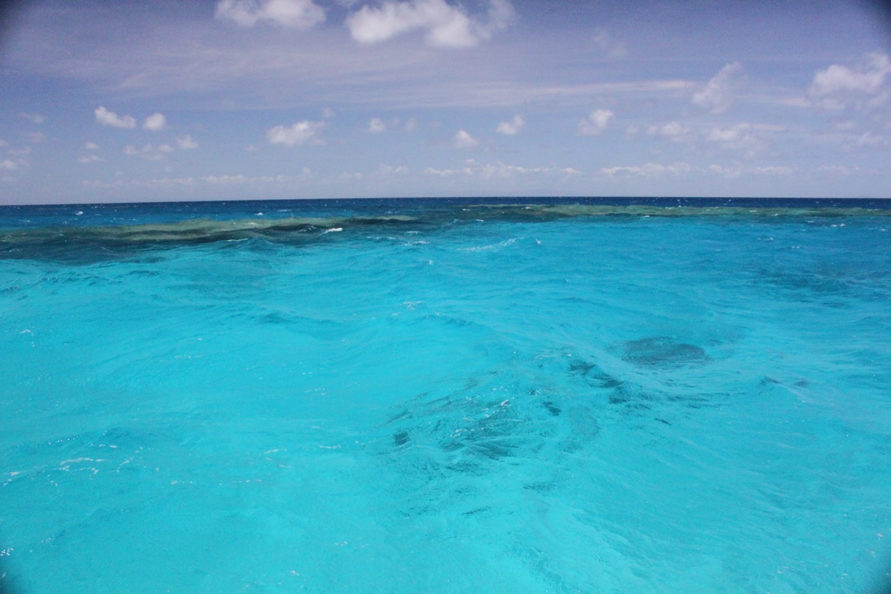 AZURE WATER ON THE GREAT BARRIER REEF -