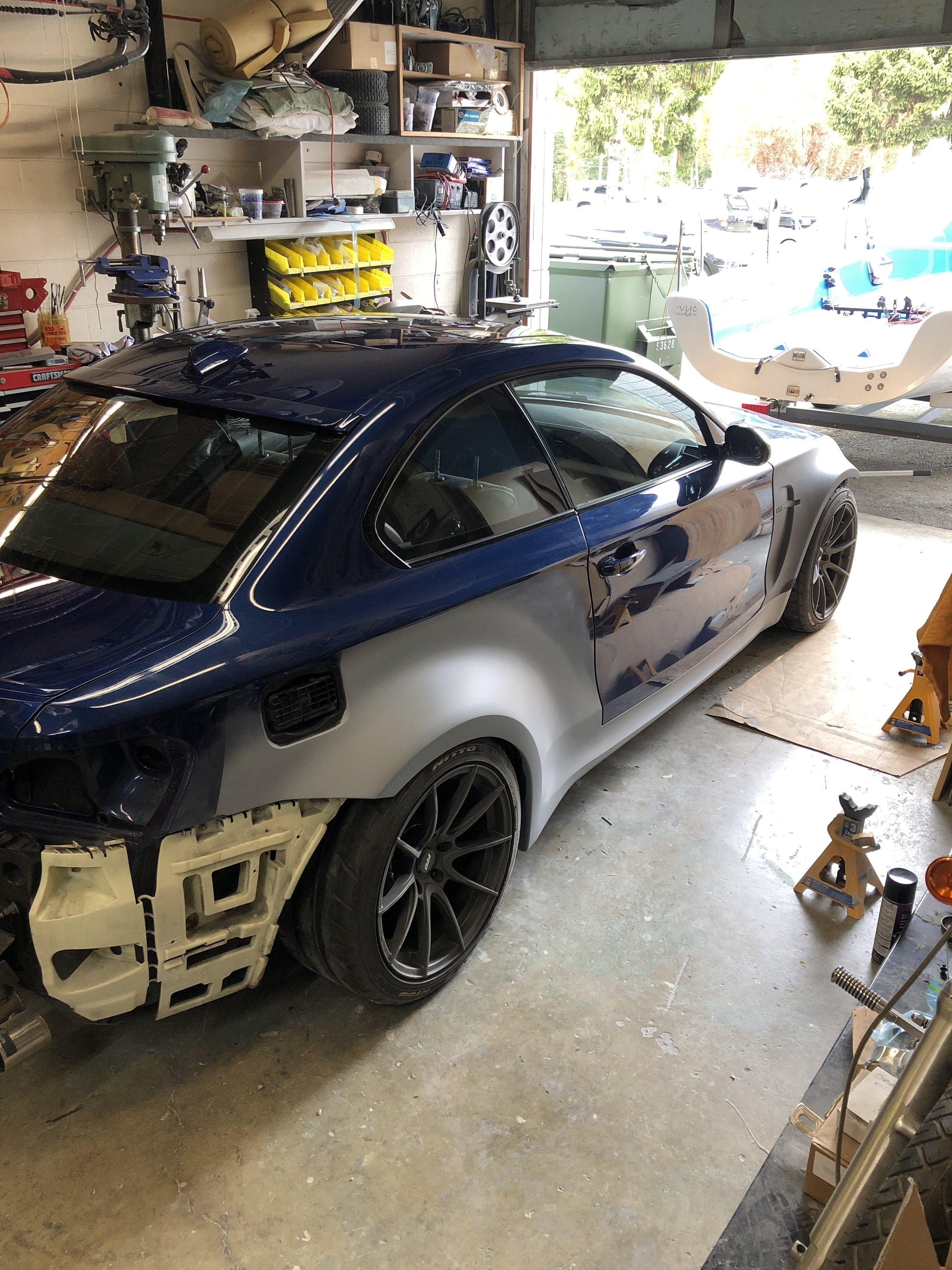 BMW 1M Wide Body Installed