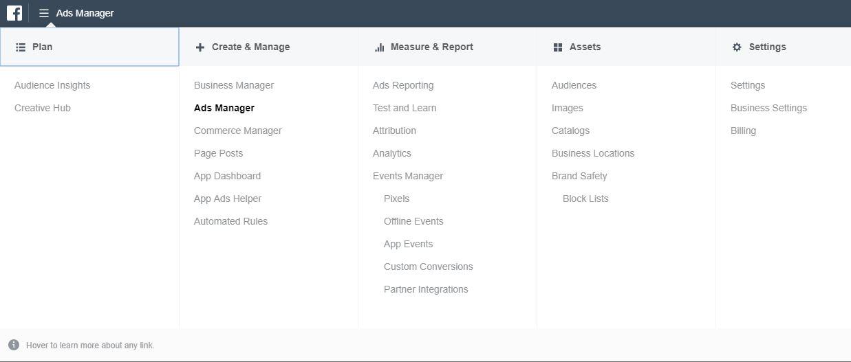 faceboook ads manager option.JPG